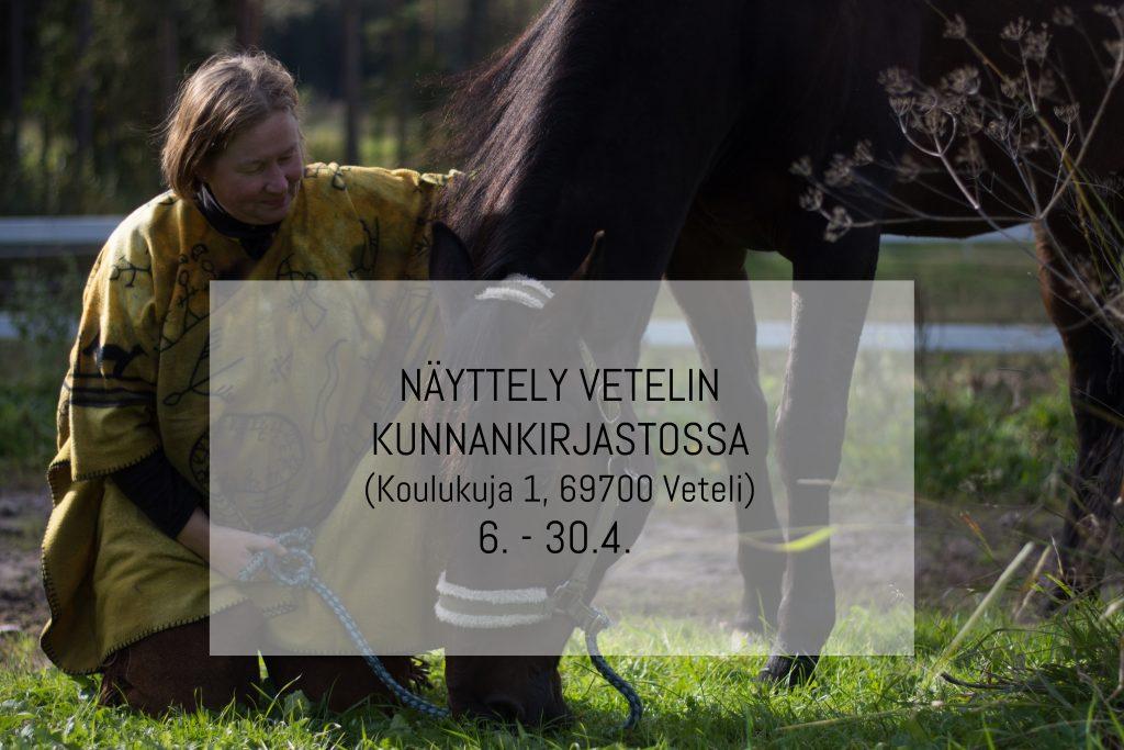Näyttely Vetelin kunnankirjastossa (Koulukuja 1, 69700 Veteli) 06.04.2020 - 30.04.2020
